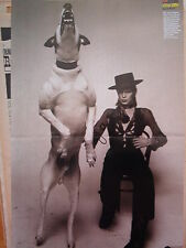 DAVID BOWIE and a giant dog Centerfold magazine POSTER  18x12 inches