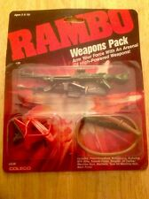 VINTAGE 1986 COLECO RAMBO ACTION FIGURE WEAPONS PACK MINT MIP UNOPENED