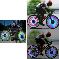 21Flash Patterns 32 RGB LED Bike Cycling Tyre Tire Wheel Valve Spoke Light LampH