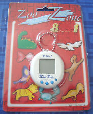 Zoo Zone 8 Mini Pets In 1 Keychain Tamagotchi ElectronicHandheld New In Package