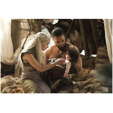 Game of Thrones Jason Momoa as Kahl Drogo with Daenerys Baby 8 x 10 Inch Photo