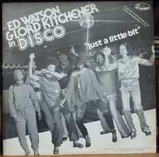 """ED WATSON & LORD KITCHENER """"JUST A LITTLE BIT"""" COVER 12"""" MAXI 45t FRENCH LP"""