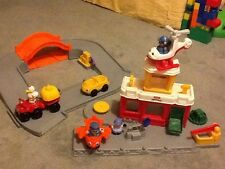 Fisher price little people airport set aeroplane helicopter cars