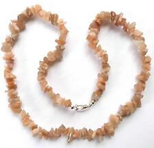 "**BEAUTIFUL MOONSTONE CHIP 20"" NECKLACE**"