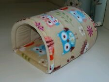GUINEA PIG SNUGGLE BED FLEECE HOUSE TUNNEL HEDGEHOG FERRET RAT TOY PLAY SMALL