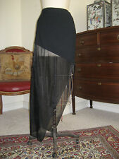 Women Sexy Black Sheer SIBILLA PAVENSTEDT designer skirt