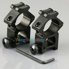 """2 x High Profile 20mm Weaver Picatinny Rifle Scope Mounts 25.4mm 1"""" inch Ring"""