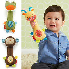 CHIC Animal Handbells Musical Developmental Toy Bells Kids Baby Soft Toys Rattle