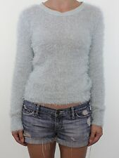 DOROTHY PERKINS mint green fluffy eyelash knit cropped jumper size 12 euro 40