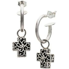 Chapal Cross Earrings NEW Sterling Silver Crosses Suspended from French Hooks
