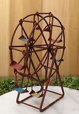 Miniature Dollhouse FAIRY GARDEN Furniture ~ Rustic Rusty Metal Ferris Wheel