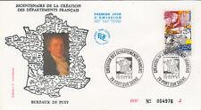 Enveloppe 1er Jour PORT SUR SAÔNE 13/10/1990 bicentenaire création départements