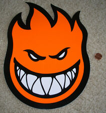 "SPITFIRE ORANGE Logo Skate Sticker 11.5 X 8"" skateboards helmets decal"