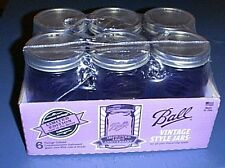 BALL (6) PURPLE Wide-Mouth Glass Canning Quart Jars & Lids ~Limited Edition~ NEW
