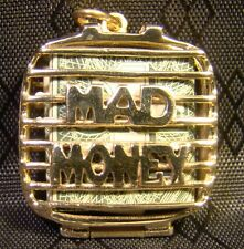 Genuine 14 K Yellow Gold Mad Money Bill Holder Cage Purse Pendant or Charm