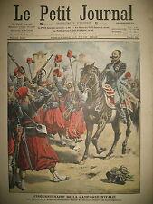 CINQUANTENAIRE CAMPAGNE ITALIE 3e ZOUAVES TRAIN MECANO FOU LE PETIT JOURNAL 1909