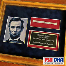 PSA/DNA * ABRAHAM LINCOLN * 5 Handwritten Cut Words * not Autograph or Signed