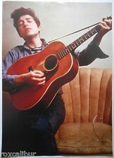 BOB DYLAN Playing Acoustic Guitar Mid 60's Heyday 33 X 23 Inch Colour POSTER