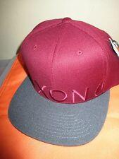 NEW Nixon BALL HAT CAP MENS Snapback OSFA S M L Dark Red Grey