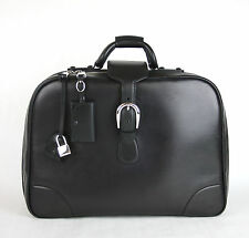 $2755 NEW Authentic Gucci Duffle Carry On Travel Bag Black Leather 285442 1000