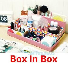 Box In Box DIY Desk Cosmetic Storage Box Container Bag Case Stuff Organizer S5