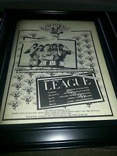 Rare Devo and Human League Australian Tour Promo Poster Ad Framed!