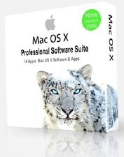 MAC OS X enorme COLLEZIONE DI SOFTWARE PROFESSIONALE - 14 programmi APPLE IMAC MACBOOK