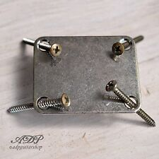 PLAQUE Fixation MANCHE RELIC by GOTOH Guitar / Bass NECK PLATE NICKEL AGED NBS-3
