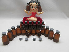 24-GLASS EMPTY VIALS 5ml ESSENTIAL AROMATHERAPY OIL BOTTLES FREE SHIPPING