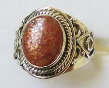 Sunstone Artisan Designed Ring in 925 Sterling Silver size 10