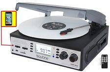 Boytone BT-19DJS-C 3 Speed Turntable Cassette AM/FM Radio Spkr LCD Screen NEW