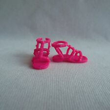 NEW 2015 Barbie Fashionista Teresa Doll Pink Flat Sandals Shoes ~ ADD ON ITEM!