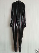 Latex Rubber Gummi Ganzanzug Suit Full-body Black Tights Catsuit Size XS-XXL