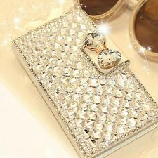 Butterfly BOW Bling Rhinestone Leather Flip Case For Samsung Galaxy S6 Edge