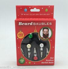 9 Fun Novelty Clip On Beard Baubles Facial Hair Clips Secret Santa Party Xmas