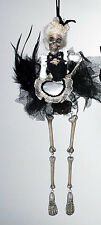 28-28693 Katherine's Collection Skeleton Maid Halloween Ornament Skull