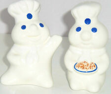 Pillsbury Doughboy Salt Pepper Shakers Poppin Fresh Cookies Ceramic Flour