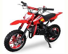 Dirt Bike 49cc DELTA rot Cross Pocket Crossbike Motocross Kinder Mini Enduro NEU