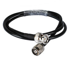 RP TNC male plug (female) to BNC plug pigtail Coax cable RG58 50cm for Wireless