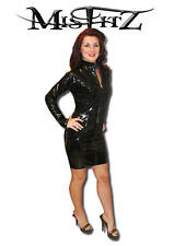 Misfitz NERA IN PVC Mistress Abito, Taglie 8-32/MADE TO MEASURE/travestito Fit
