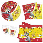 TOM AND JERRY PARTY TABLEWARE - CUPS, PLATES, NAPKINS, TABLECOVER