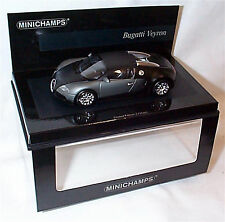 Bugatti Veyron MATT BLACK NUOVO IN SCATOLA Ltd Edition 1-43 SCALA