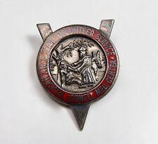 Vintage Cornell Medical Center 5 Years Volunteer Service Pin Sterling Red Enamel