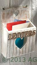 Heart Wood Letter Post Rack Heart Wall Shabby White Rustic Vintage Home Chic New