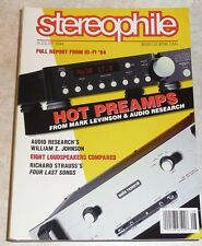 Stereophile Vol.17 #8 Aug 1994 Audio Research Levinson Artistry Duntech Physic