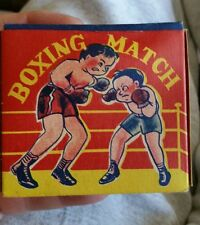 1950s Japan Rubber Boxing Toy damaged by heat and time. Box in Great Condition