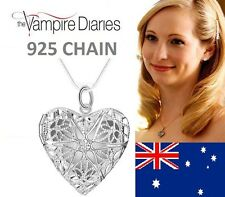 "925 Sterling 16"" The Vampire Diaries Caroline Forbes Heart Vervain Necklace"