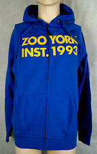 Zoo York Inst Hooded Zip Sweat Skateboarding Farbe Deep Blue Größe L