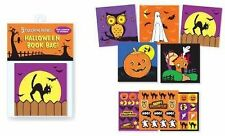 Halloween Mini Coloring Book Set w Crayons and Stickers