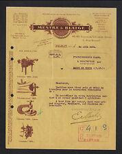 """PARIS (XVII°) USINE D'OUTILLAGE / ETAU ,MEULE ,MARBRE """"MESTRE & BLATGE"""" en 1930"""